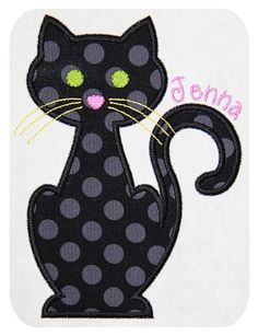 Cat-Applique-Design