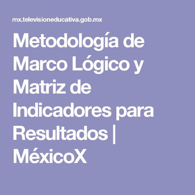 Metodología de Marco Lógico y Matriz de Indicadores para Resultados | MéxicoX