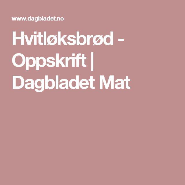 Hvitløksbrød - Oppskrift | Dagbladet Mat