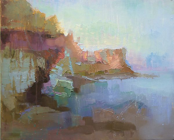 """""""Morning Mist""""  Oil Painting    Created by Cathy Locke"""
