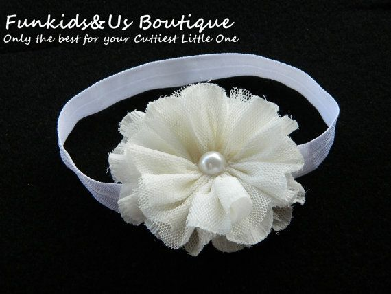 White Baby Headband Girl white by FunkidsandUsBoutique on Etsy, $5.10