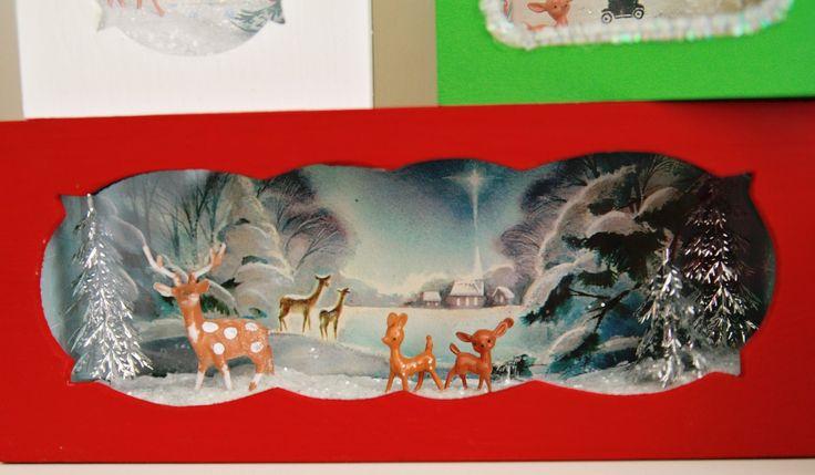 DIY Cute Vintage Christmas Card Boxes
