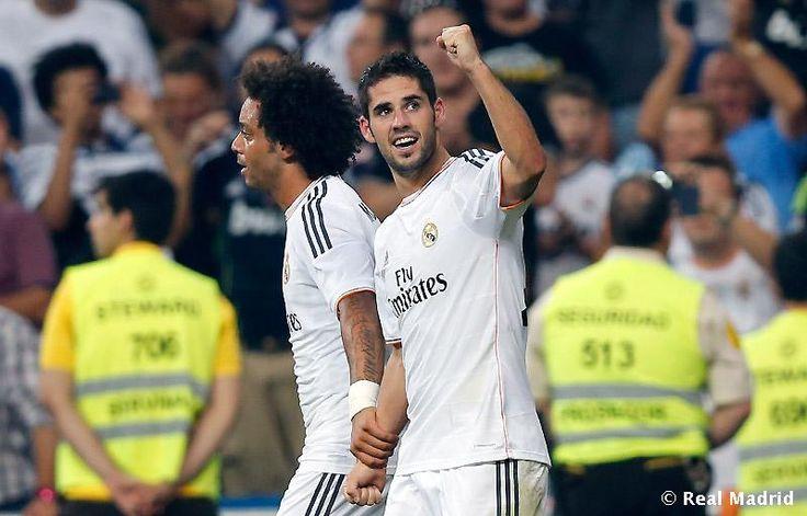 Celebración 2do gol (Isco) - Real Madrid 2 - Real Betis 0 (La Liga)