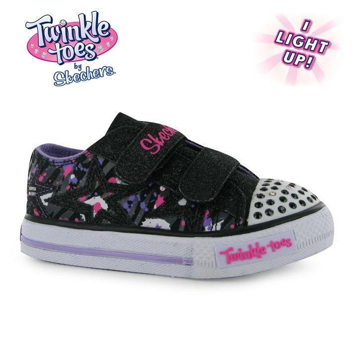 Skechers Twinkle Toes Canvas Shuffle Shoe Infant Girls