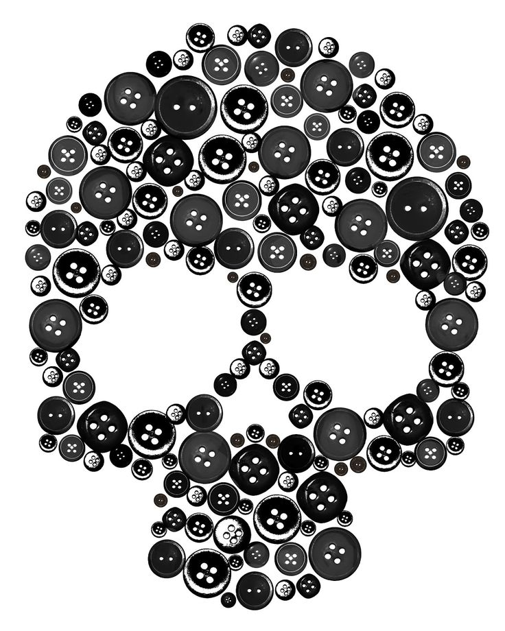 skull buttons.  Need to do this on a pillow!!! Or a purse!