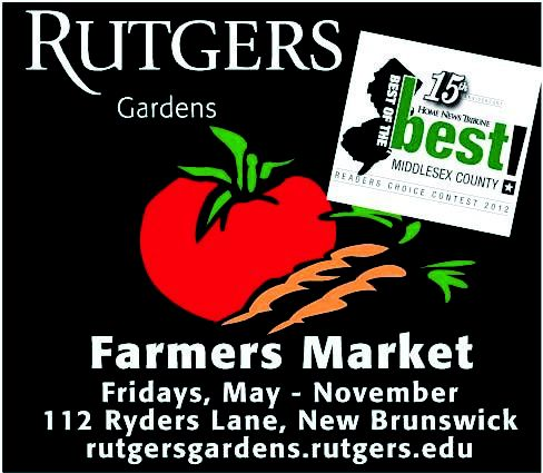 Rutgers Gardens Farmer's Market  112 Ryders Lane  New Brunswick, NJ
