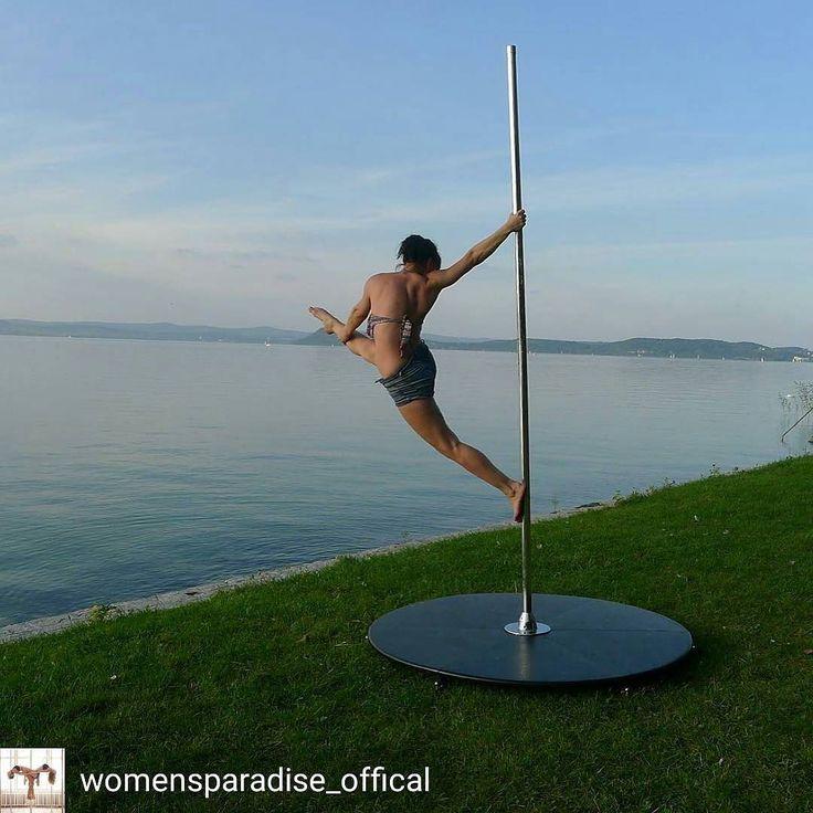 @Regrann_App from @womensparadise_offical -  BalatonPart #balaton #split #stretching #nyújtás #womensparadise #womensstyle #poledance #poleinstructor #polefitness @noncse  www.nr86.hu - #regrann