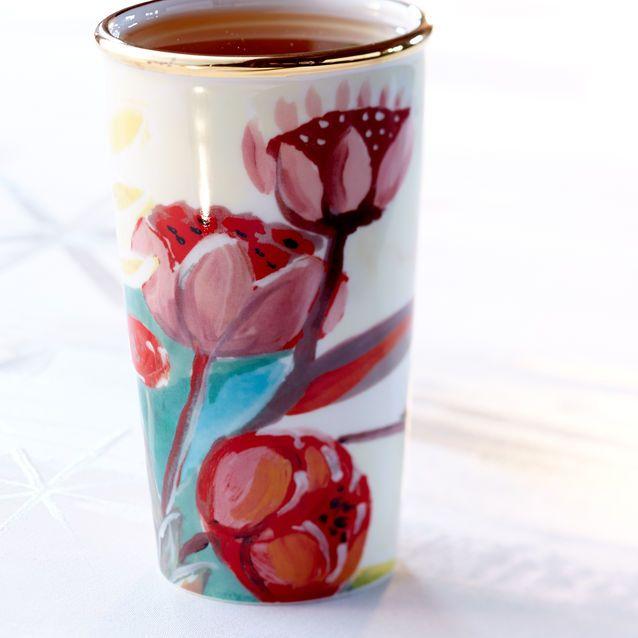 Love This New Starbucks Mug Double Wall Traveler Painted Flowers 10 Fl Oz Mugs Stemware Gles Tumblers In 2018 Pinterest