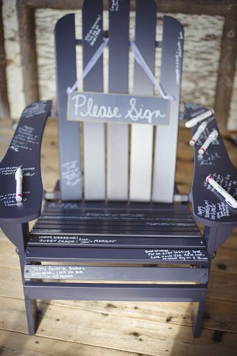 Adirondack chair guest book, rustic wedding, lake placid wedding
