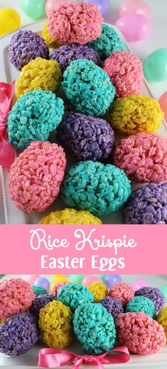 Rice Krispie Easter Eggs - an Easter dessert that is fun, easy and delicious. Your family will love this unique Easter treat. Follow us for more great Easter Food Ideas