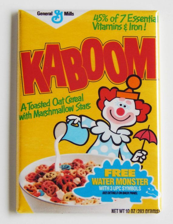 Kaboom...all time worst cereal