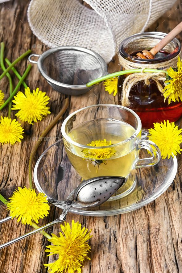 Tea With Honey Dandelion By Nikolaydonetsk Cup Of Medicinal Tea With Honey Dandelion Dandelion Honey Tea Nikolaydo Medicinal Tea Dandelion Tea Sweet Tea