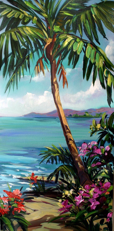 best 25  beach canvas paintings ideas on pinterest