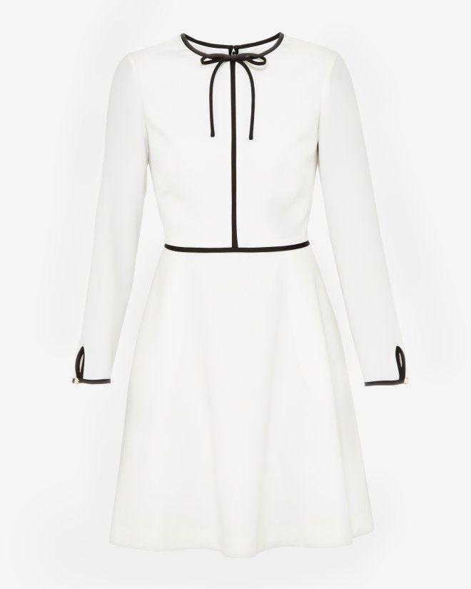 Neck tie dress - Cream | Dresses | Ted Baker