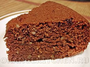 Вегетарианский рецепт постного шоколадного манника