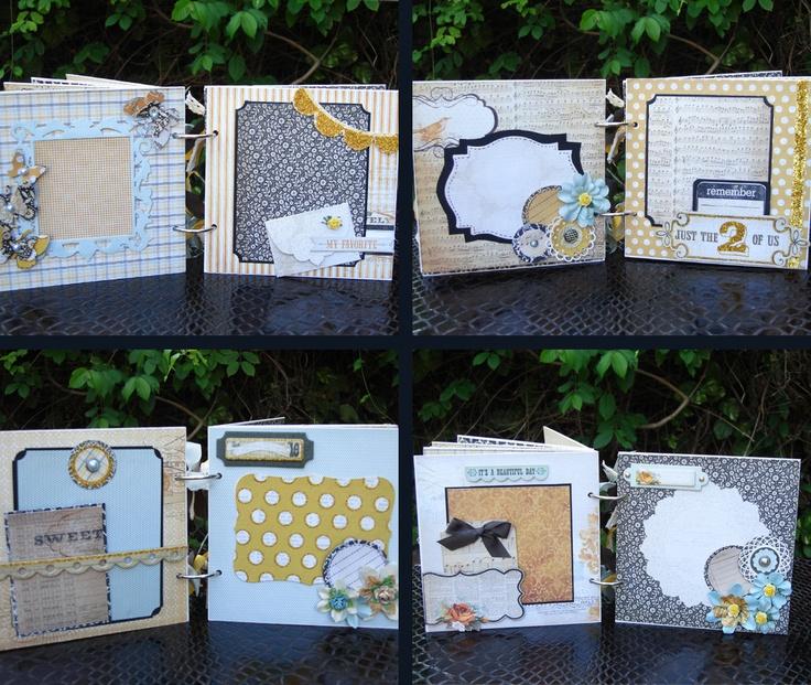 Mini scrapbook Album Handmade Mini Album by shereenaftab