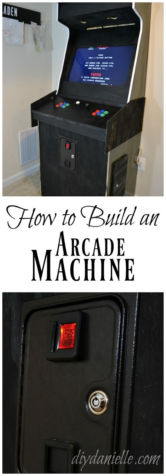 Always wanted a game room? Build an arcade machine and you'll be one step closer!