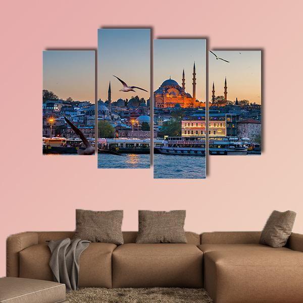 Istanbul The Capital Of Turkey Multi Panel Canvas Wall Art Wall Canvas Wall Art Multi Panel Canvas