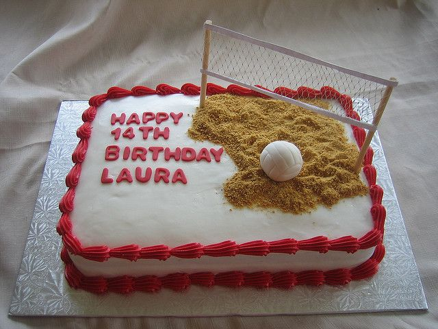 Volleyball Birthday Cake by Linzi's Cakes, via Flickr