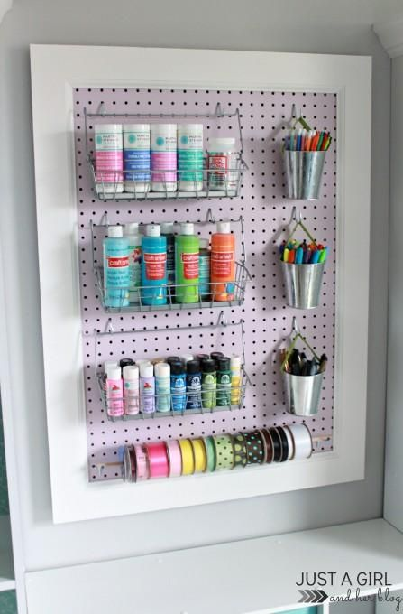 Best 25 acrylic paint storage ideas on pinterest paint for Diy pegboard craft organizer