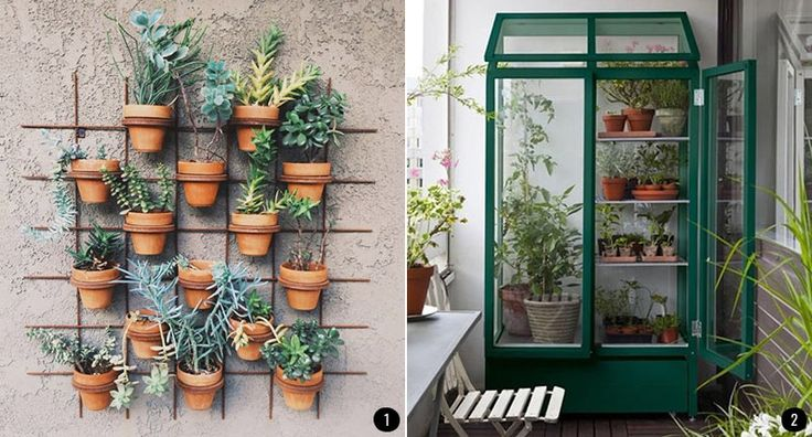 17 best images about macetas on pinterest wall mount for Jardines en balcones pequenos