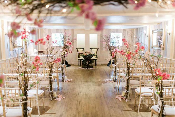 floral woodland ceremony room