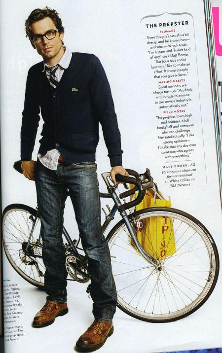 .This Man, White Collars, Men Clothing, Bikes, Matte Bomer, Men Style, Matthew Bomer, Men Fashion, Matt Bomer