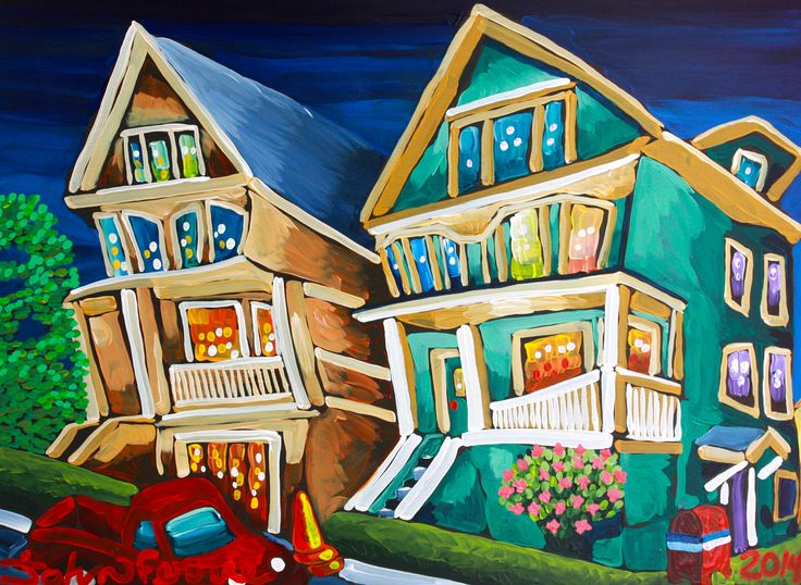 """1569 Pendrell, 28"""" x 40"""", acrylic on canvas with KRink, 2014"""