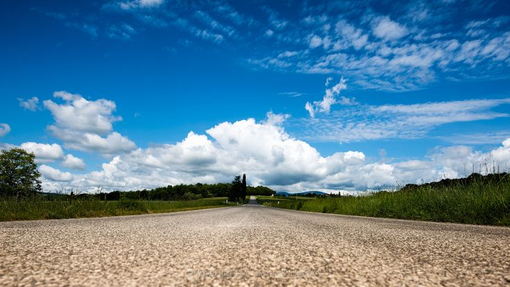 Tuscan road - Tuscan road, Anghiari, Tuscany - Italy