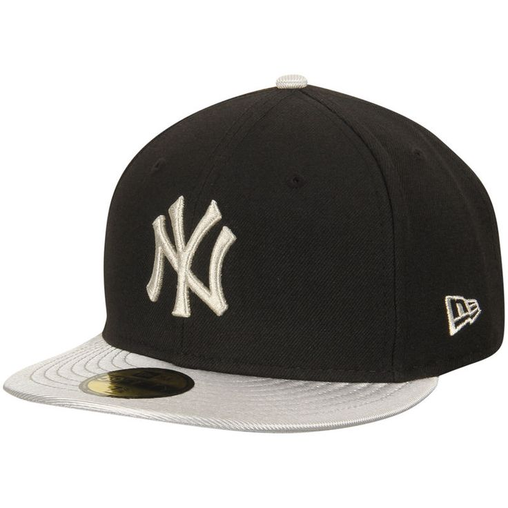 New York Yankees New Era 59FIFTY Custom Fitted Hat - Black/Silver