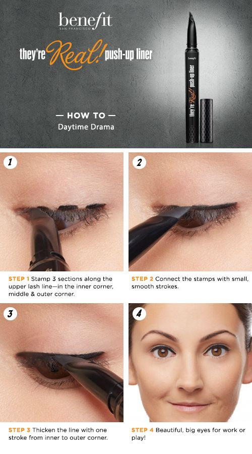 Love this mascara. Will have to try this! Daytime Drama HOW TO featuring Benefit's They're Real! Push-Up Liner #Sephora