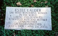 Estée Lauder, American cosmetics entrepreneur, Estee Lauder died of cardiopulmonary arrest at her home in Manhattan. She is buried in the Beth-El Cemetery in Washington Township, New Jersey.
