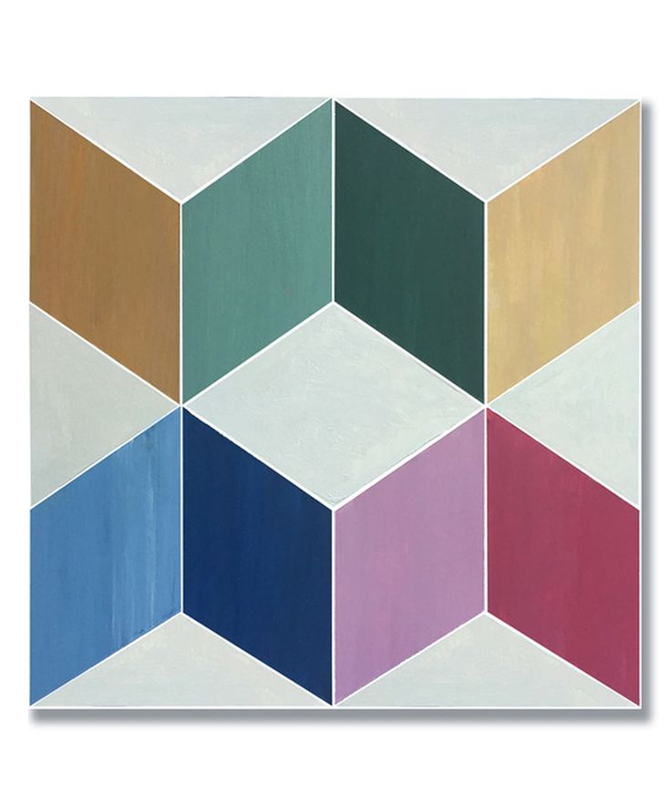 Love this Purple & Blue Geometric Adhesive Floor Tile by floorAdorn on #zulily! #zulilyfinds
