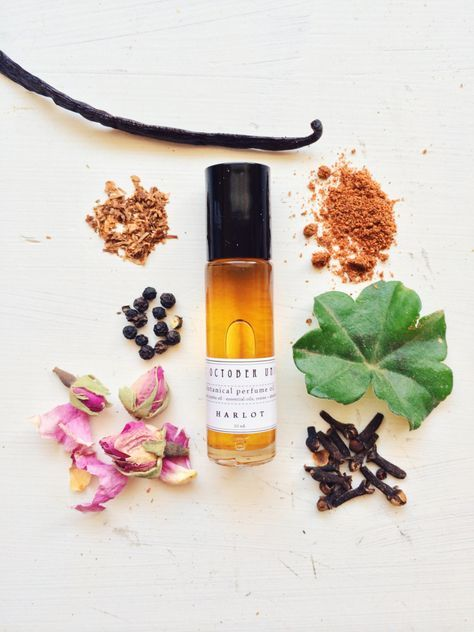etsyfindoftheday: etsyfindoftheday 3   10.23.14 theme thursday: bath and body beauts 'harlot' botanical perfume by theoctoberunion another find from theoctoberunion … this time it's a tasty perfume with a sassy name. 'harlot' is a mix of warming spices, rose, and a touch of sweet tobacco. available in an oil (featured) or as a solid scent. awesome product photography, too!