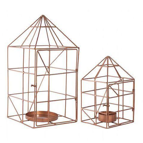 LET LIV - House Candle Holder Set in Copper