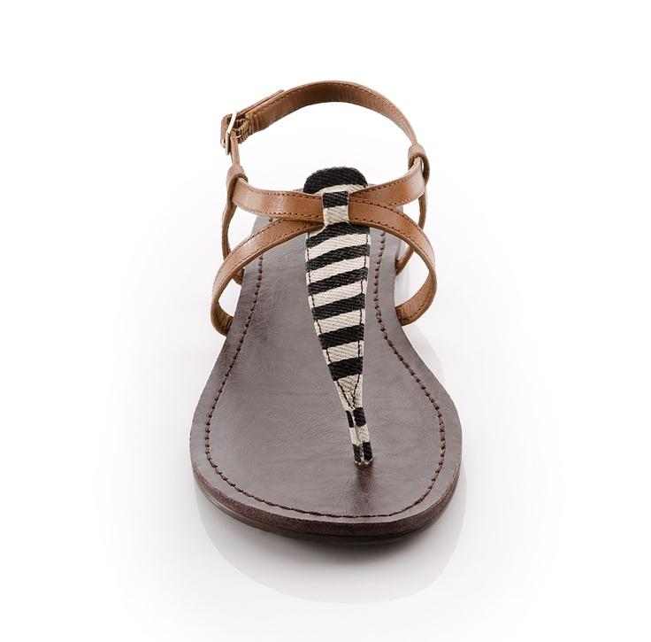 stripey prep sandals