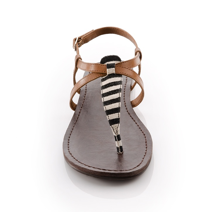 #Black & #White #Stripe #Sandals <3
