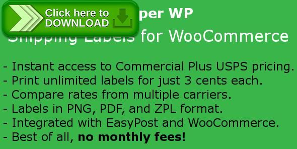 [ThemeForest]Free nulled download Shipper WP - Shipping Labels for WooCommerce from http://zippyfile.download/f.php?id=53363 Tags: ecommerce, easypost, easypost integration, fedex, postage, shipping, shipping labels, ups, usps, usps integration, woocommerce shipping, woocommerce shipping labels, woocommerce usps