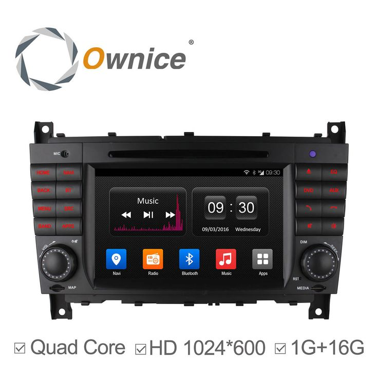 HD 1024*600 Ownice Android 4.4 Car DVD for Mercedes C Class W203 2004-2007 c200 C230 C240 C320 C350 CLK W209 2005 GPS Radio