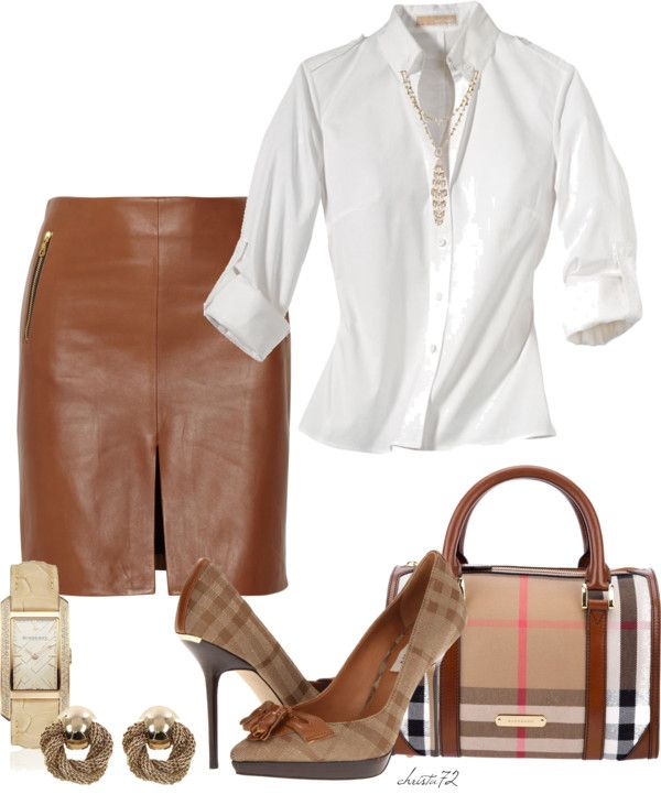 """Burberry for Work"" by christa72 on Polyvore"