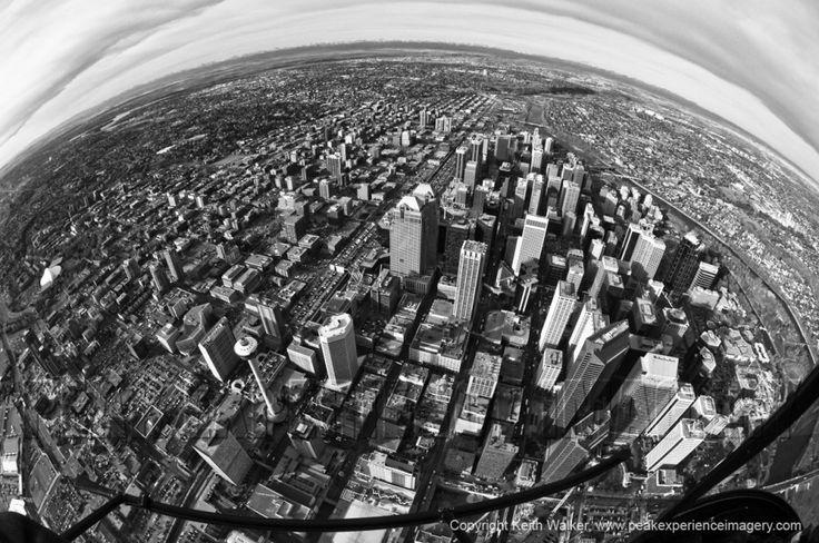 Calgary Aerial Photography Fish Eye Lense