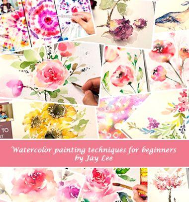 Spring flowers - beginner watercolor painting tutorials by Jay Lee // Tavaszi virágok vízfestéssel egyszerűen - Jay Lee festőművésszel // Mindy - craft tutorial collection
