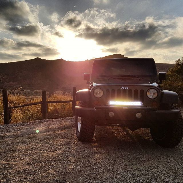 """The ALL NEW Tow Hook Light Bar is here! Increase front end protection of your stock JK bumper while adding a D-ring closed recovery system. Oh yeah, and mount a 20"""" light bar or 2 work lights. #LedLightBars #LedWorkLight #JkLightBar #Jeep #Wrangler #JKU #MadeInUSA Click link in bio to learn more."""