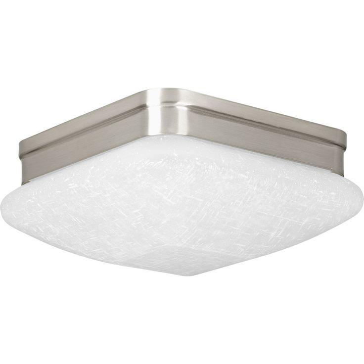 Progress Lighting Appeal 9-in W Brushed Nickel Integrated Flush Mount Light