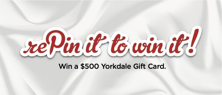 """Re-pin It To Win It!"" with Yorkdale Shopping Centre!"
