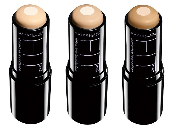 Maybelline Fit Me! Shine Free Foundation. Love this stuff! Doesn't come out too orangey