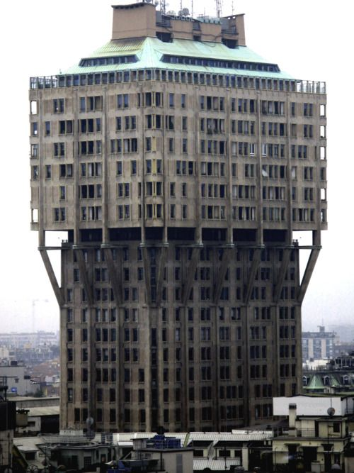 The Torre Velasca (Velasca Tower, in English) is a skyscraper built in 1950s by the BBPR architectural partnership, in Milan, Italy.