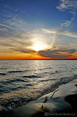 Lake Erie some of my best childhhood memories were at lake erie in summer walleye fishing w grandpa and swimming all day ....then eating walleye after swimming yum