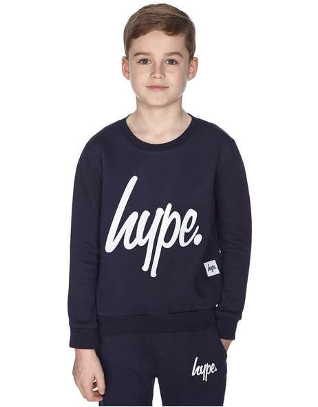 Hype Logo Crew Sweatshirt Junior - find out more on our site. Find the freshest in trainers and clothing online now.