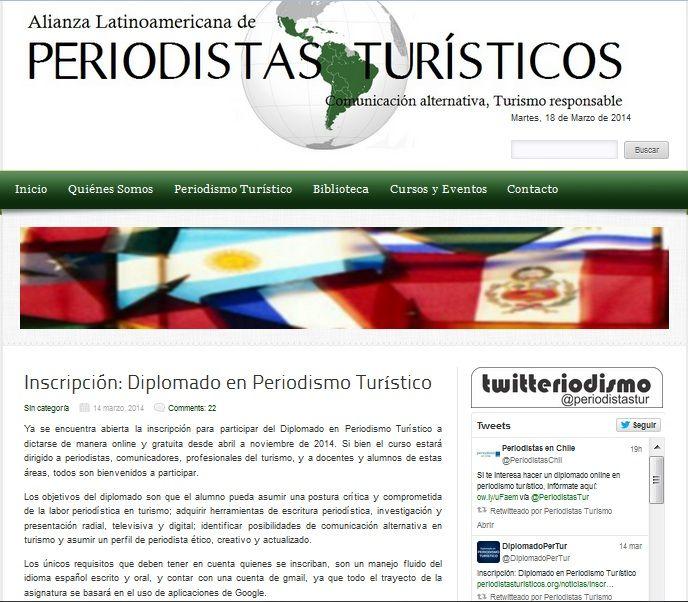 diplomado online gratis sobre periodismo turístico